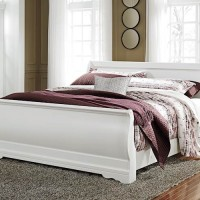 Anarasia White King Sleigh Bed