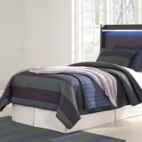 Annikus Gray Twin Panel Bed