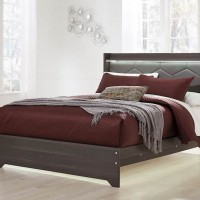 Annikus Gray Queen Panel Bed