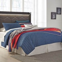 Annikus Gray Full Panel Bed