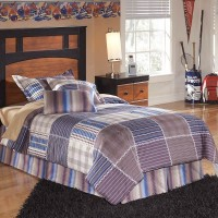 Aimwell Dark Brown Twin Panel Bed