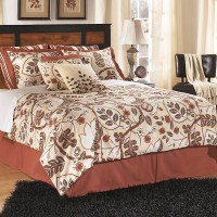 Aimwell Dark Brown Queen Panel Bed