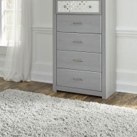 Arcella Gray Five Drawer Chest