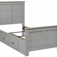 Arcella Gray Twin/Full Under Bed Storage