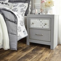 Arcella Gray Two Drawer Night Stand