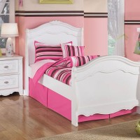 Exquisite White Twin Sleigh Bed
