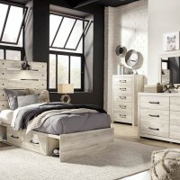 Cambeck Whitewash Bedroom Set