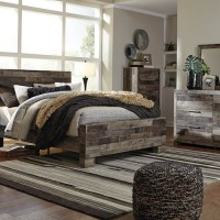 Derekson Multi Gray Bedroom Set