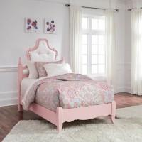 Laddi White/Pink Twin Bed