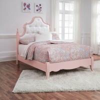 Laddi White/Pink Full Bed