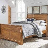 Bittersweet Light Brown Queen Sleigh Headboard