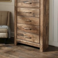Blaneville Brown Five Drawer Chest