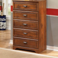 Barchan Medium Brown Five Drawer Chest