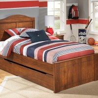 Barchan Medium Brown Twin Panel Bed with Trundle