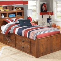Barchan Medium Brown Twin Bkc Bed with (1) Underbed Storage