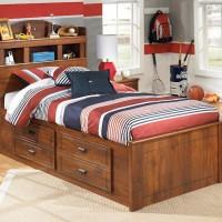 Barchan Medium Brown Under Bed Storage with Side Rail