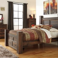 Quinden Dark Brown Bedroom Set