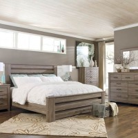 Zelen Warm Gray Bedroom Set