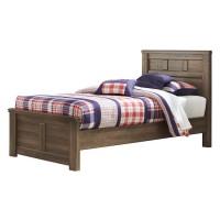 Juararo Dark Brown Twin Panel Bed