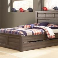 Juararo Dark Brown Full Panel Bed with Trundle/Storage