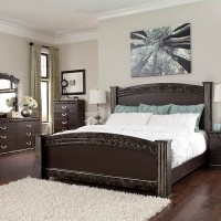 Vachel Dark Brown Bedroom Set