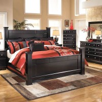 Shay Almost Black Bedroom Set