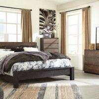 Windlore Dark Brown Bedroom Set