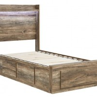 Rusthaven Brown Twin/Full Under Bed Storage