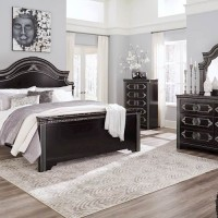 Banalski Dark Brown Bedroom Set