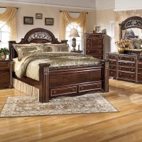 Gabriela Dark Reddish Brown Bedroom Set