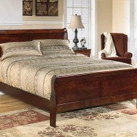 Alisdair Dark Brown Queen Sleigh Bed