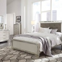 Lonnix Silver Finish Bedroom Set