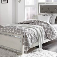 Lonnix Silver Finish Twin Bed