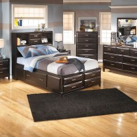 Kira Almost Black Bedroom Set