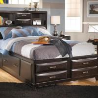 Kira Almost Black Full Storage Bed