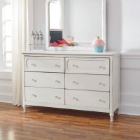 Faelene Chipped White Bedroom Mirror