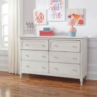 Faelene Chipped White Dresser