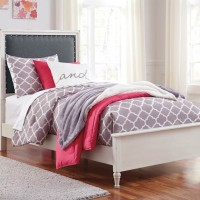 Faelene Chipped White Twin Bed