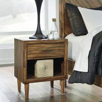 Broshtan Light Brown One Drawer Night Stand