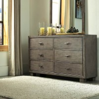 Arnett Gray Bedroom Mirror
