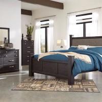 Reylow Dark Brown Bedroom Set