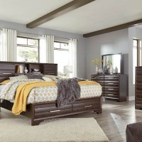 Andriel Dark Brown Bedroom Set