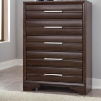 Andriel Dark Brown Five Drawer Chest