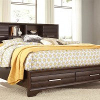 Andriel Dark Brown King Storage Bed