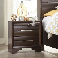 Andriel Dark Brown Two Drawer Night Stand