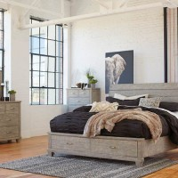 Naydell Rustic Gray Bedroom Set