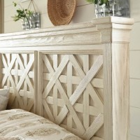 Bolanburg Antique White King/California King Panel Headboard
