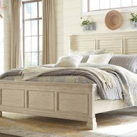 Bolanburg Antique White King/California King Louvered Headboard