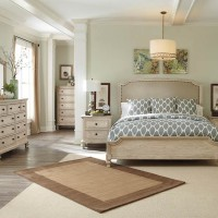 Demarlos Parchment White Bedroom Set
