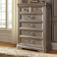 Birlanny Silver Five Drawer Chest